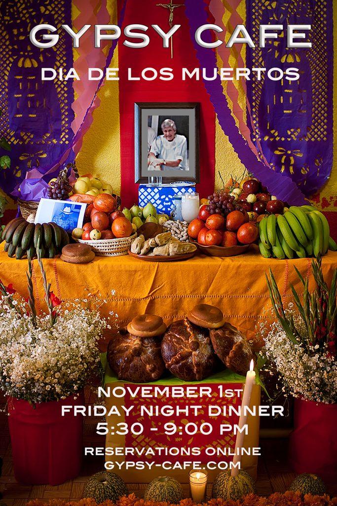 Dia de los Muertos dinner Nov. 1st – CANCELLED